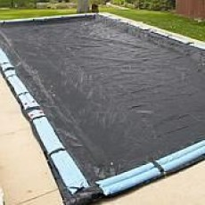 30 x 60 ft Rectangle Mesh In Ground Pool Winter Pool Cover 8/1 Warranty