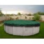 16 x 32 ft Oval Solid Above Ground Pool Winter Pool Cover 10/1 Warranty