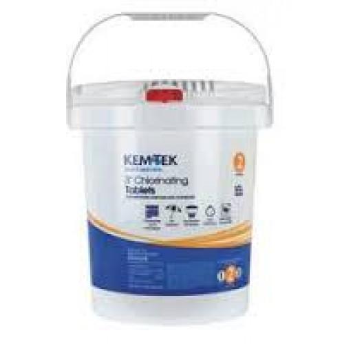 3 Inch 95% Trichlor Chlorine Tabs   KemTek 15 Lbs